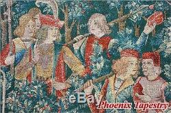 LARGE Hunt of the Unicorn Medieval Art Tapestry Wall Hanging Cotton 55x54, US