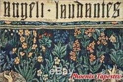 LARGE William Morris Angeli Laudantes Medieval Tapestry Wall Hanging 55x41, US