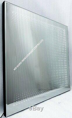 LED Tunnel Infinity Light Up Decorative Wall Mirror 60x60cm Mood Lighting