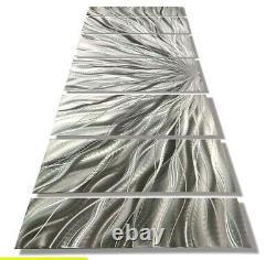 Large Contemporary Metal Art Wall Modern Silver Decor Signed Original Jon Allen