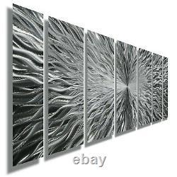 Large Modern Silver Metal Wall Art Sculpture Contemporary Decor Artist Jon Allen