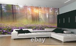 Magic Forest Wall Mural Flowers Landscape Photo Wallpaper DECOR Paper Poster Art