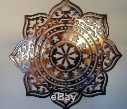 Mandala Wall Decor, Heat Colored, Metal Art, Zen Art, Yoga Sign
