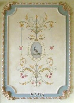 Marie Antoinette Grand Panel Wall Stencil LARGE Detailed French Decor
