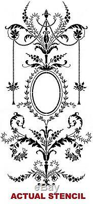 Marie Antoinette Grand Panel Wall Stencil LARGE Detailed French Wall Decor