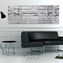 Metal Wall Art Modern Silver Tropical Decor Wall Sculpture Original Jon Allen