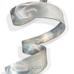 Metal Wall Sculpture Hanging Abstract Modern Silver Decor Original Art Jon Allen
