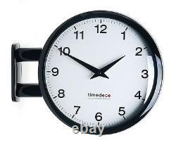 Modern Art Design Double Sided Wall Clock Station Clock Home Decor MA5Black