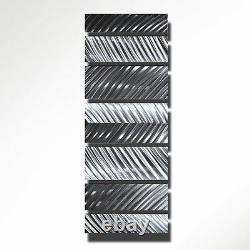 Modern Contemporary Art Abstract Metal Wall Sculpture Silver Design Home Decor L
