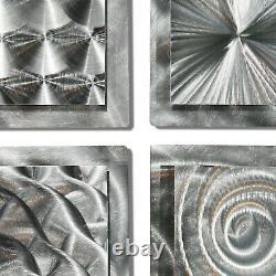 Modern Metal Wall Art Silver Accent Sculpture Decor by Jon Allen