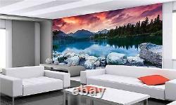 Mountain Lake Wall Mural Photo Wallpaper GIANT DECOR Paper Poster Free Paste