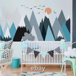 Mountain Wall Sticker Scandinavian Style Kids Decal Boys Nursery Decor Art Mural