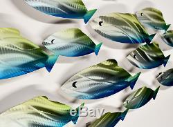NEW Large Metal Wall Art Sculpture Reef Fish Ocean Design Modern Art Decor Panel