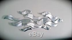 NEW Large Metal Wall Sculpture Modern Abstract Art Wave Painting Home Decor