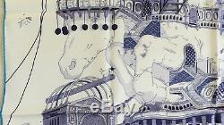 NEW+TAG+BOX HERMES Hippopolis SILK SCARF by Ugo Gattoni Unicorn Horse WALL DECOR