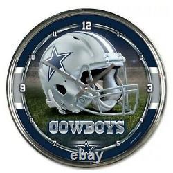 NFL Dallas Cowboys Wall Clock Decoration Bar Garage Mancave Decor 12
