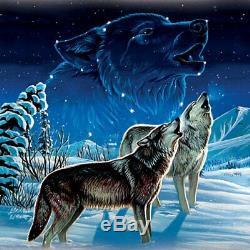 Native American Replica Dream Catcher Glow in Dark Wolf Wall Decor Wolves NEW