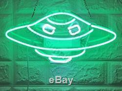 New Alien UFO Wall Decor Artwork Neon Light Sign 14 x 8