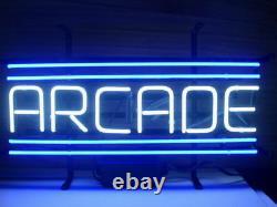 New Arcade Blue Wall Decor Man Cave Bar Neon Light Sign 17x14
