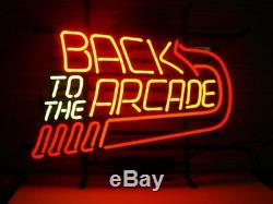 New Back to the Arcade Wall Decor Man Cave Bar Neon Light Sign 17x14