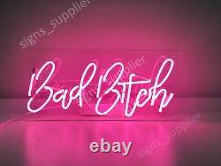 New Bad Bitch Neon Sign Acrylic Gift Light Lamp Bar Wall Room Decor 15x10