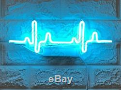 New Beating Heart Rate Acrylic Lamp Wall Decor Artwork Neon Light Sign 15x 6