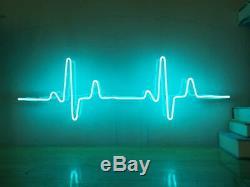 New ECG Electrocardiogram Neon Sign Homeroom Wall Decor Wall Decor for Chistmas