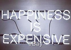 New Happiness Is Expensive Artwork Wall Decor Acrylic Neon Light Sign 20x12
