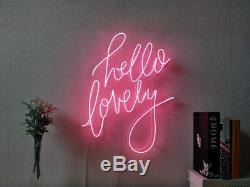 New Hello Lovely Neon Sign Homeroom Wall Decor Wall Decor for Chistmas16X20