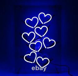 New Love Heart Blue Bar Pub Wall Decor Acrylic Neon Light Sign 20