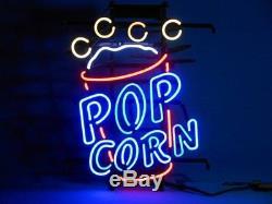 New Popcorn Pop Corn Neon Light Sign 17x14 Wall Decor Man Cave Bar Beer