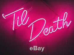 New Til Death Decor Artwork Room Wall Decor Acrylic Light Lamp Neon Sign 24