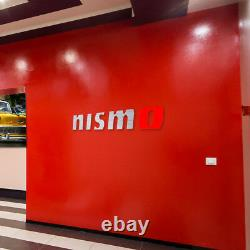 Nismo Letters Colors Sign Garage Brushed Silver Aluminum Gift 6 FT Wall decor