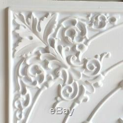 PL18 faux finish white matt ceiling tiles Decorative 3D wall panels10tile/lot