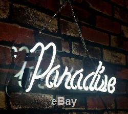 Paradise Boutique Shop Store Beer Bar Pub Room Wall Decor Neon Sign Light
