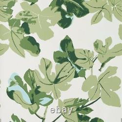 Peter Dunham Fig Leaf Wallpaper in Original on White, Wall Art, Wall Decor