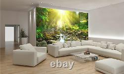Photo Wallpaper River-Green Forest GIANT WALL DECOR PAPER POSTER FOR BEDROOM
