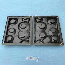 Plastic mold for Decorative Wall Block Panels Plaster Set of 2 pcs 3D RING