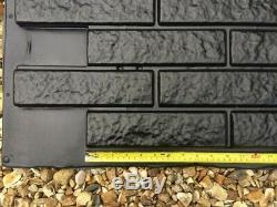 RAGGY BRICK VENEER Plastic Mold Concrete Gypsum Plaster Wall Decoration Tile 3D