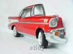 Red 57 Chevy Side Car Wall Decor Full Size with Functional Head Lights