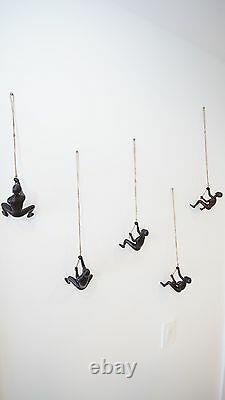 Resin Climbing man wall art high end home decor sculpture x 4 pcs! US SELLER