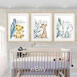 Safari tropical Nursery Wall Prints, nursery wall prints, Safari Decor