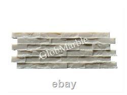 Set of 4 Pc Concrete Vertical Stamp Mats WSM 10201. Decorative Concrete Walls