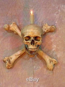 Skull Femur Bone Wall Sconce, Halloween Prop, Skulls