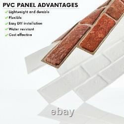 Stone Effect PVC Plastic Wall Covering Panels 3D Decorative Tiles Cladding