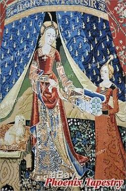 The Lady & Unicorn Medieval Fine Art Tapestry Wall Hanging DESIRE (Large), US