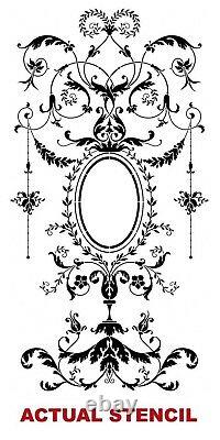 Versailles Grand Panel Wall Stencil LARGE Elegant French Decor Wall Design