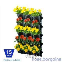 Vertical Garden Kit 15 Pots Green Wall Hanging Planter Box DIY Herb Succulent