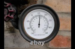 Wall Mounted Industrial Style Steampunk Clock Vintage Distress Time Home Decor