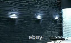 Wave 3D Decorative Wall Panel Plastic Mould Mold Moule Plaster Gypsum DIY Tile